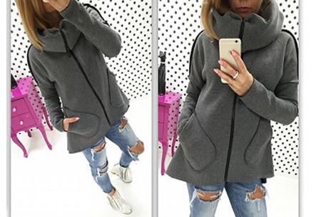 Dames vest met col en fleece binnenzijde nu slechts €18,95 | Comfortabel & fashionable! donkergrijs