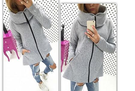 Dames vest met col en fleece binnenzijde nu slechts €18,95 | Comfortabel & fashionable! lichtgrijs