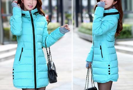 Lange gewatteerde winterjas | Shop hem nu in de sale Blauw