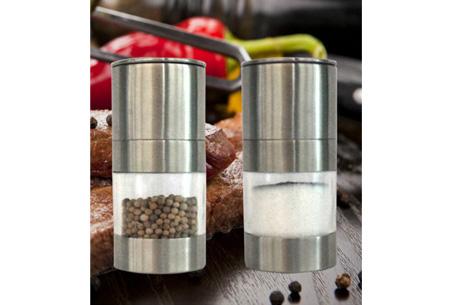 RVS peper- & zoutstel nu slechts €14,95 | Stijlvol & makkelijk