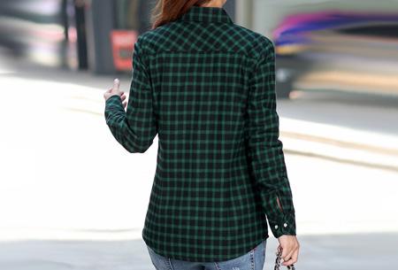 Geruite blouse met heerlijk warme fleece voering nu slechts €24,95 | Hip & comfortabel!