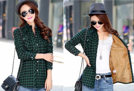 Geruite blouse met heerlijk warme fleece voering nu slechts €24,95 | Hip & comfortabel! #4 groen