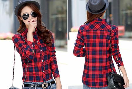 Geruite blouse met heerlijk warme fleece voering nu slechts €24,95 | Hip & comfortabel! #1 rood/blauw