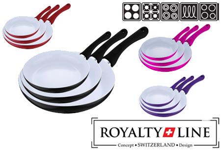 Royalty Line keramische 3-delige koekenpannenset nu slechts €27,95