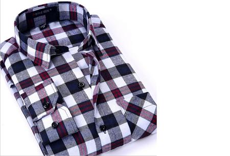 Geruit heren overhemd van luxe kwaliteit nu slechts €24,95 | Keuze uit 16 uitvoeringen DM06