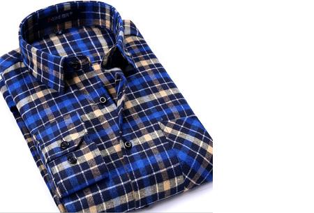 Geruit heren overhemd van luxe kwaliteit nu slechts €24,95 | Keuze uit 16 uitvoeringen DM19