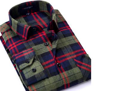 Geruit heren overhemd van luxe kwaliteit nu slechts €24,95 | Keuze uit 16 uitvoeringen DM23