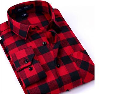 Geruit heren overhemd van luxe kwaliteit nu slechts €24,95 | Keuze uit 16 uitvoeringen DM36