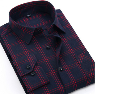 Geruit heren overhemd van luxe kwaliteit nu slechts €24,95 | Keuze uit 16 uitvoeringen DM40
