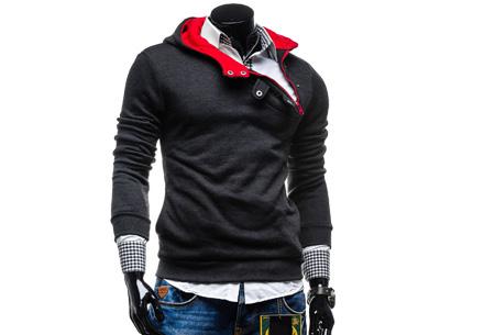 Buttons heren sweater nu slechts €17,95 | Comfortabel & stijlvol Antraciet