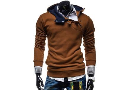 Buttons heren sweater nu slechts €17,95 | Comfortabel & stijlvol Camel