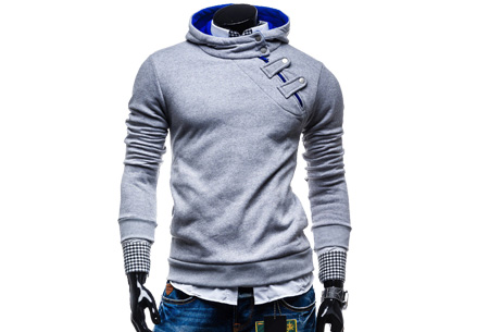Buttons heren sweater nu slechts €17,95 | Comfortabel & stijlvol Lichtgrijs