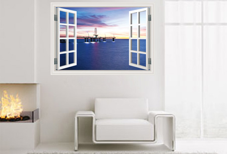 3D muursticker voor een origineel interieur nu slechts €19,95! Keuze uit 5 uitvoeringen