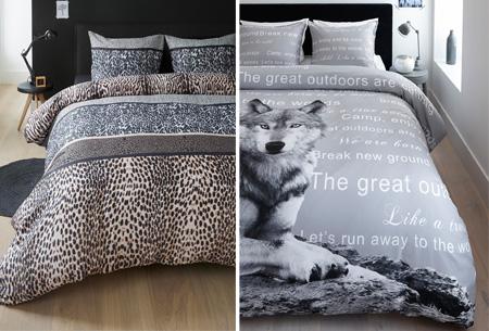 Dekbedovertrek met mooie dierenprint nu al vanaf €19,95 | Keuze uit 4 verschillende prints