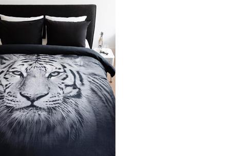 Dekbedovertrek met mooie dierenprint nu al vanaf €19,95 | Keuze uit 4 verschillende prints Tijger