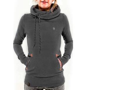 Sweater met col en fleece binnenzijde nu slechts €19,95 | Comfy musthave! donkergrijs