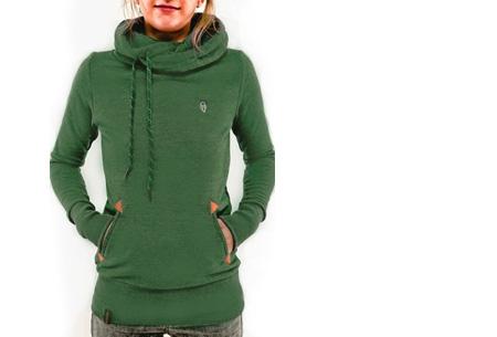 Sweater met col en fleece binnenzijde nu slechts €19,95 | Comfy musthave! groen