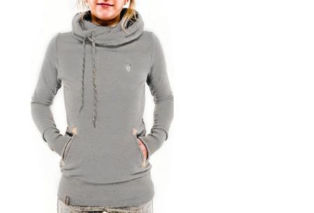 Sweater met col en fleece binnenzijde nu slechts €19,95 | Comfy musthave! lichtgrijs