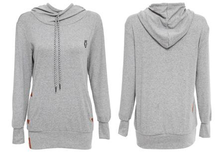 Sweater met col en fleece binnenzijde nu slechts €19,95 | Comfy musthave!
