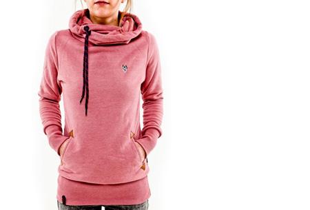 Sweater met col en fleece binnenzijde nu slechts €19,95 | Comfy musthave! roze