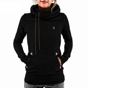 Sweater met col en fleece binnenzijde nu slechts €19,95 | Comfy musthave! zwart