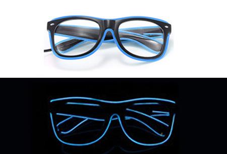 LED party bril nu slechts €9,95 | Steel de show op elk feestje Blauw