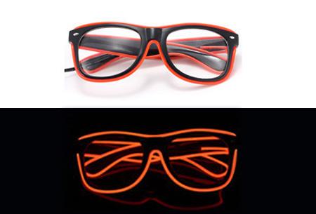 LED party bril nu slechts €9,95 | Steel de show op elk feestje Rood