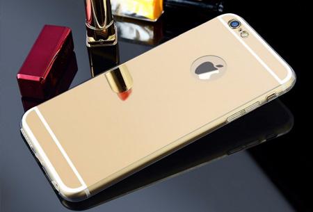 Mirror telefoon case in 4 kleuren nu slechts €4,95 Voor verschillende iPhone & Samsung modellen Goudkleurig