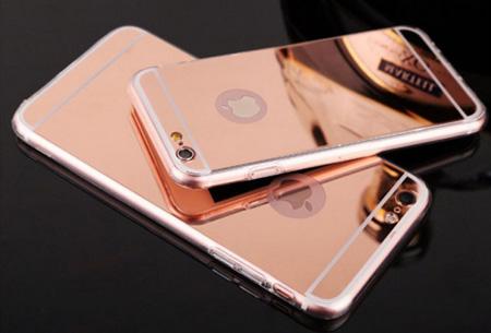 Mirror telefoon case in 4 kleuren nu slechts €4,95 Voor verschillende iPhone & Samsung modellen Rosékleurig