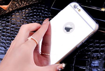 Mirror telefoon case in 4 kleuren nu slechts €4,95 Voor verschillende iPhone & Samsung modellen Zilverkleurig