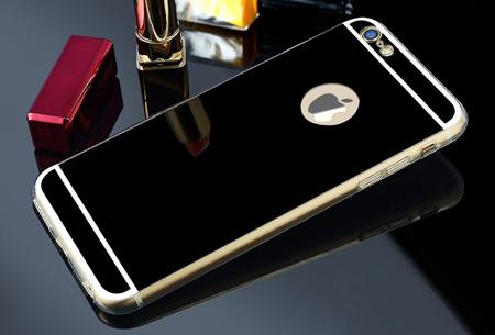 Mirror telefoon case in 4 kleuren nu slechts €4,95 Voor verschillende iPhone & Samsung modellen Zwart