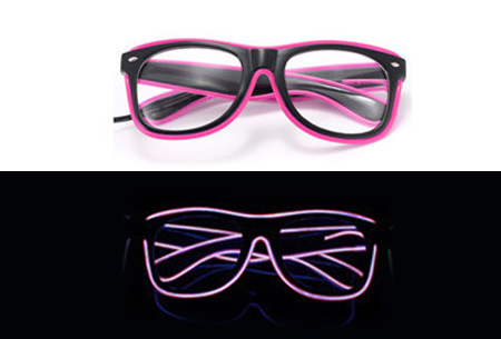 LED party bril nu slechts €9,95 | Steel de show op elk feestje Roze