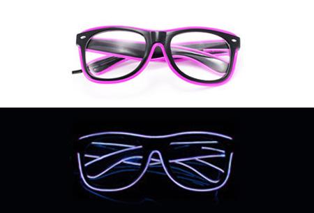 LED party bril nu slechts €9,95 | Steel de show op elk feestje Paars