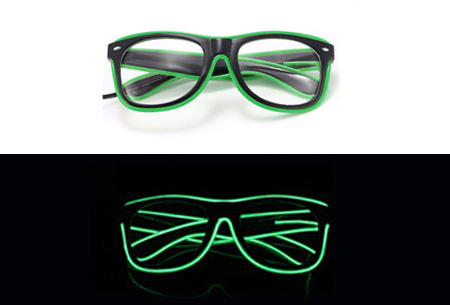 LED party bril nu slechts €9,95 | Steel de show op elk feestje Groen