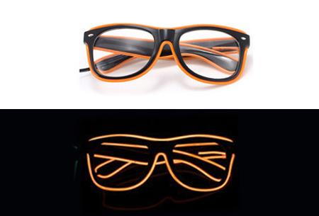 LED party bril nu slechts €9,95 | Steel de show op elk feestje Oranje
