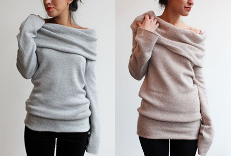 Off shoulder trui nu slechts €13,95 | Comfortabel met een sexy touch!