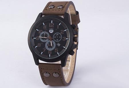 Lederen herenhorloge nu slechts €8,95! | Stijlvol en stoer! bruin