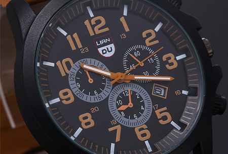 Lederen herenhorloge nu slechts €8,95! | Stijlvol en stoer!