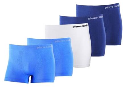 Pierre Cardin 5-pack heren boxers nu slechts €19,95 Blauw