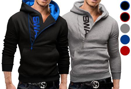 Swag heren sweater met fleece binnenzijde nu slechts €17,95 | Stoere en comfy musthave!