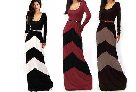 maxi jurk met lange mouwen