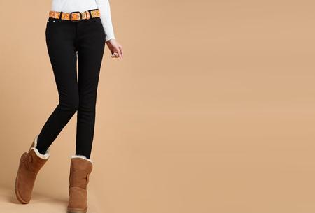 Broeken met zachte fleece binnenkant nu slechts €19,95 | Warm en vooral super comfortabel! Zwart