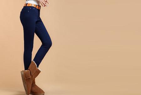 Broeken met zachte fleece binnenkant nu slechts €19,95 | Warm en vooral super comfortabel! Donkerblauw