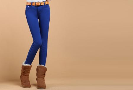 Broeken met zachte fleece binnenkant nu slechts €19,95 | Warm en vooral super comfortabel! Blauw