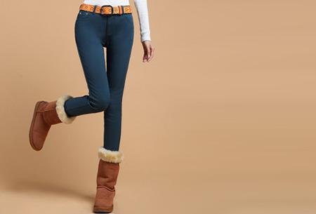 Broeken met zachte fleece binnenkant nu slechts €19,95 | Warm en vooral super comfortabel! Donkergroen