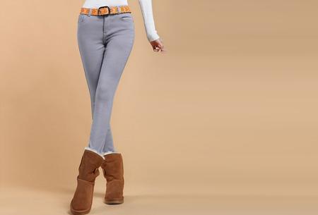 Broeken met zachte fleece binnenkant nu slechts €19,95 | Warm en vooral super comfortabel! Grijs