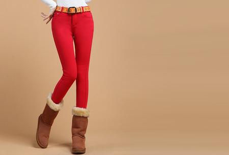 Broeken met zachte fleece binnenkant nu slechts €19,95 | Warm en vooral super comfortabel! Rood