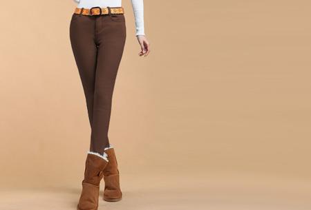Broeken met zachte fleece binnenkant nu slechts €19,95 | Warm en vooral super comfortabel! Bruin