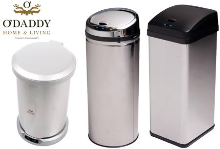 O'Daddy infrarood prullenbakken | Keuze uit 4 modellen nu al vanaf €49,95!