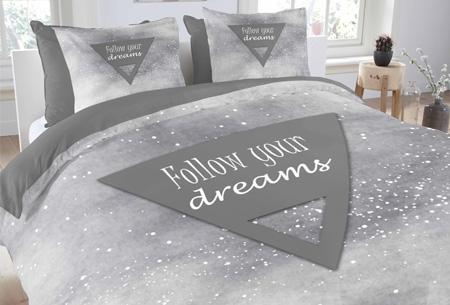 Prachtige dekbedovertrekken van 100% zacht katoen nu vanaf slechts €17,95  #2 Follow your dreams